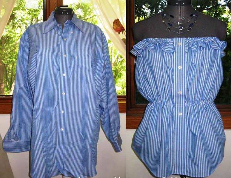 Платье из рубашки своими руками