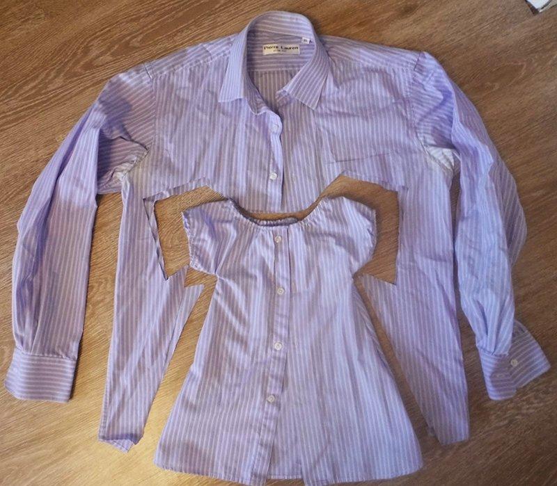 переделка мужской джинсовой рубашки