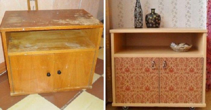 переделка старой мебели до и после