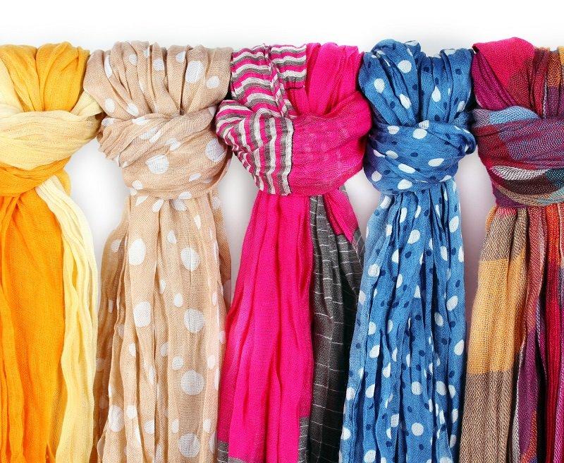 шелковый платок на голову