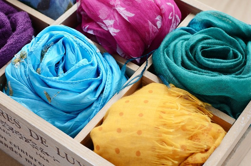 старые шарфы применение