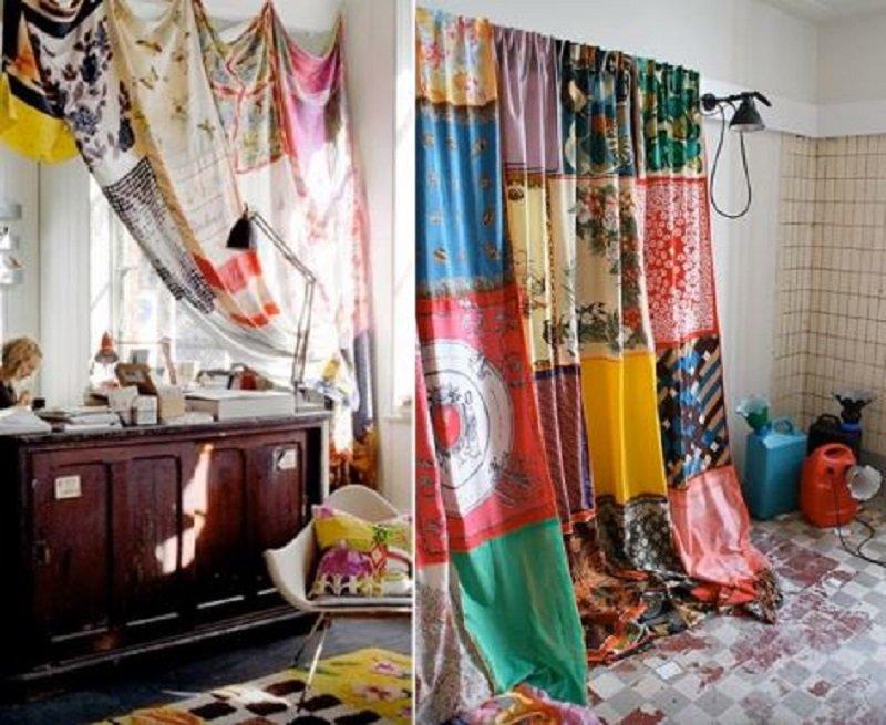 шторы из старых вещей