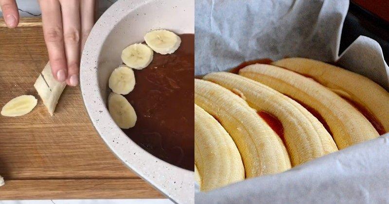 Рецепт бананового пирога Кулинария,Бананы,Десерты,Карамель,Пироги,Тесто
