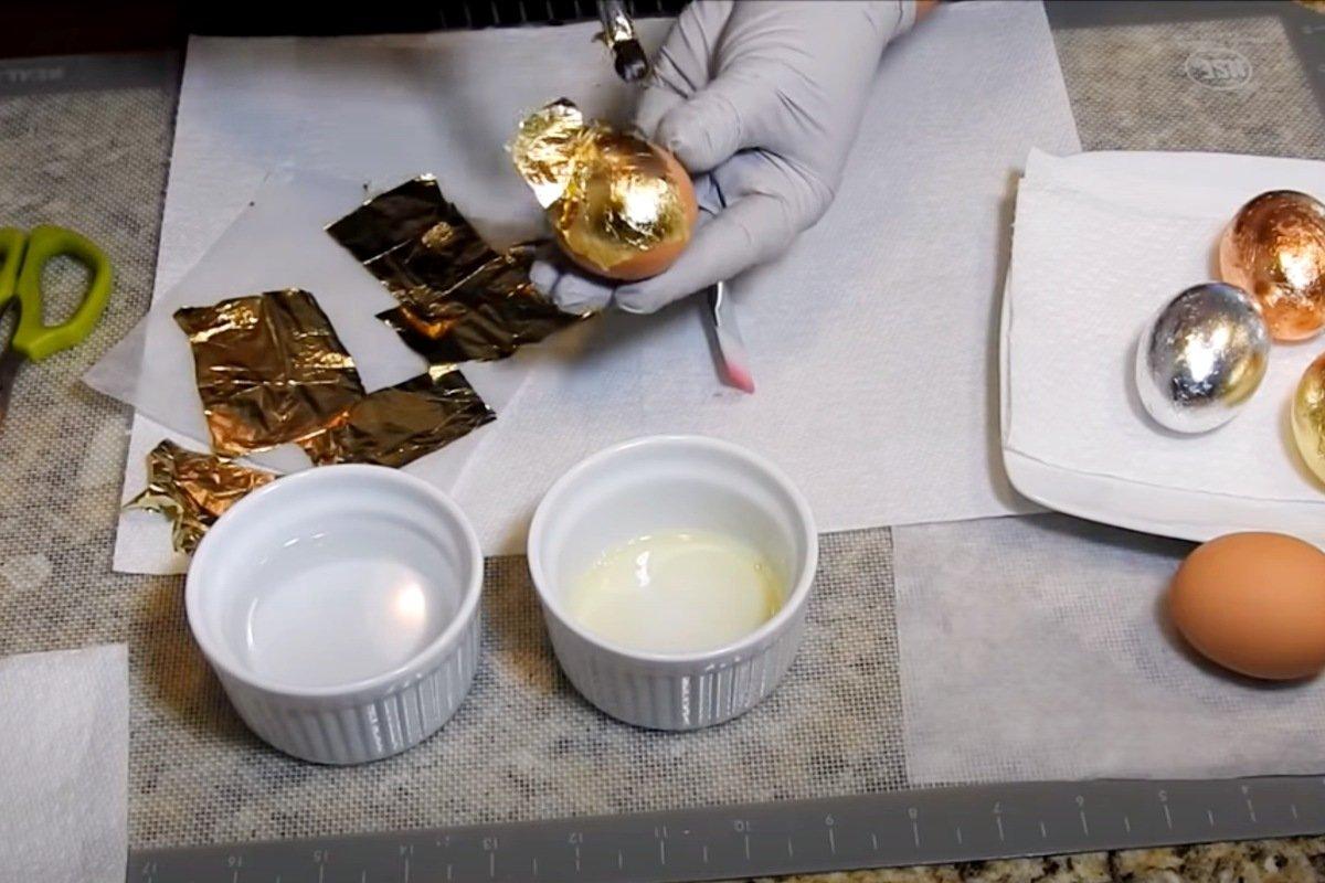 Как заставить яйца в пасхальной корзине сиять перламутром Вдохновение,Кулинария,Декор,Пасха,Праздники,Творчество,Яйца