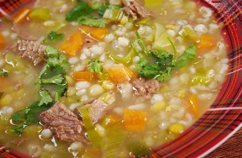 перловый суп с горохом