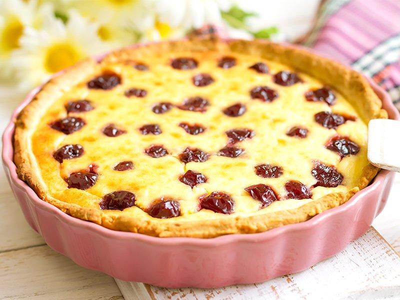 Рецепт вишневого пирога с заливкой