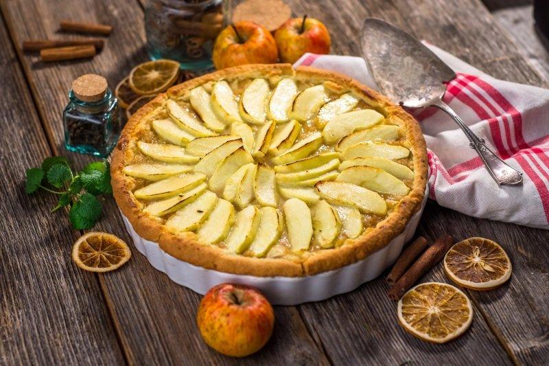 пирог с яблоками дольками