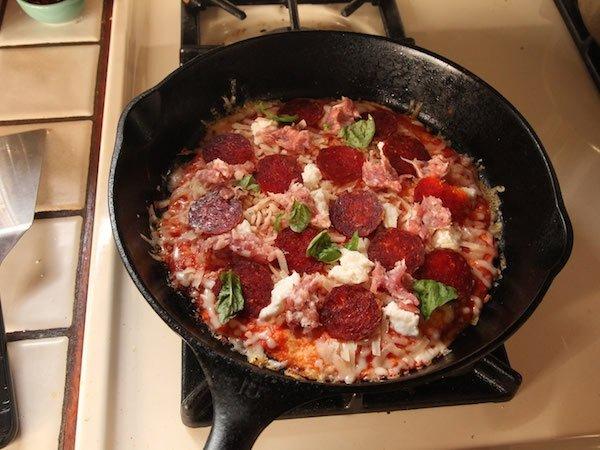 приготовление пиццы на лаваше