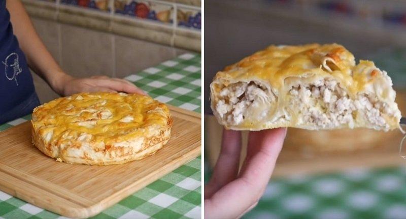 пирог из лаваша и фарша в духовке