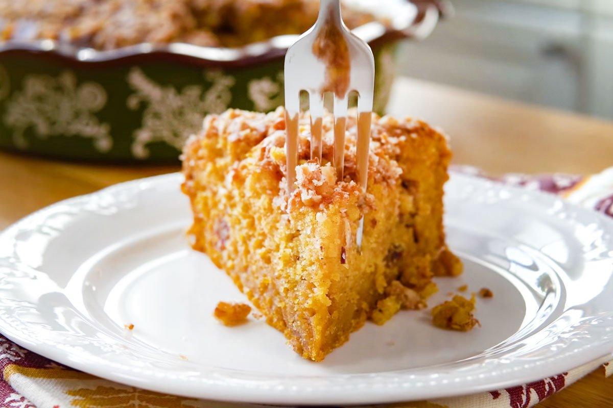 Тыквенный пирог с хрустящей ореховой корочкой по рецепту Тани Шпилько