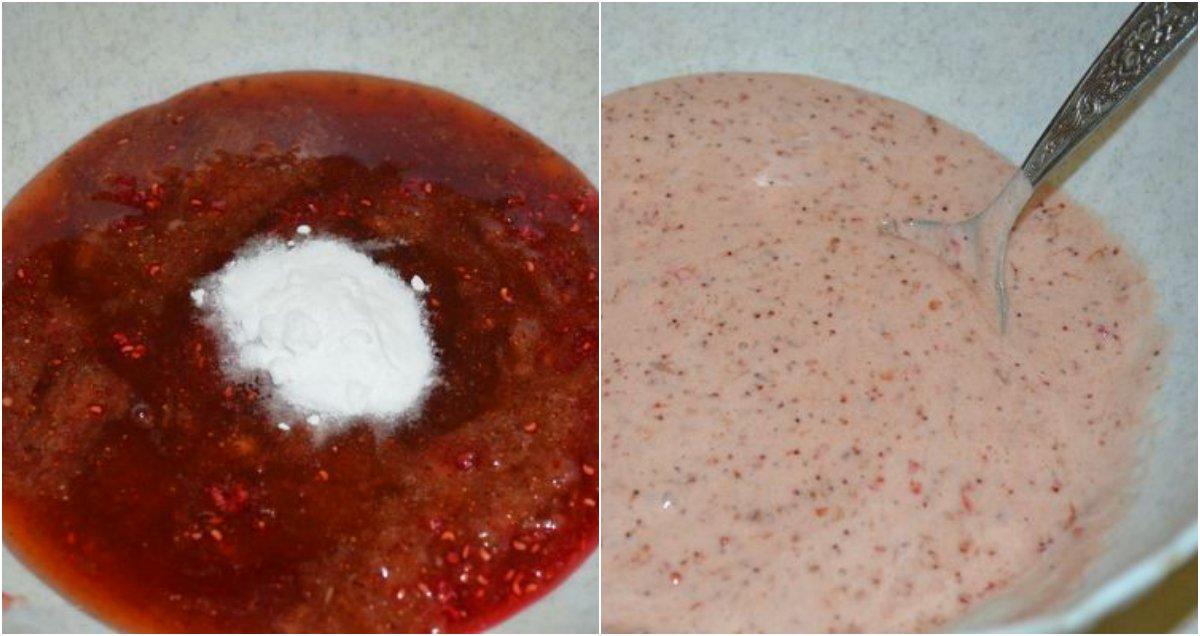 Пироги на кефире с вареньем из смородины