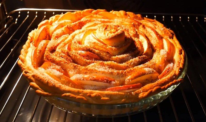 дрожжевой пирог с яблоками чайная роза