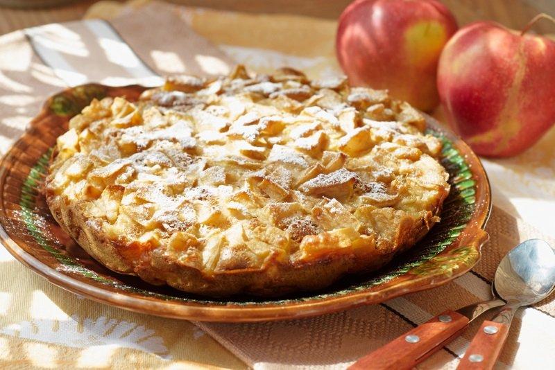 яблочный пирог быстро