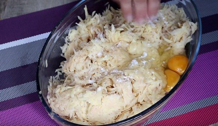 картофельный пирог с овощами