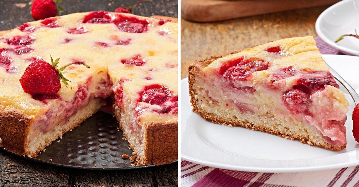 Инструкция по приготовлению пирога с клубникой на кефире thumbnail