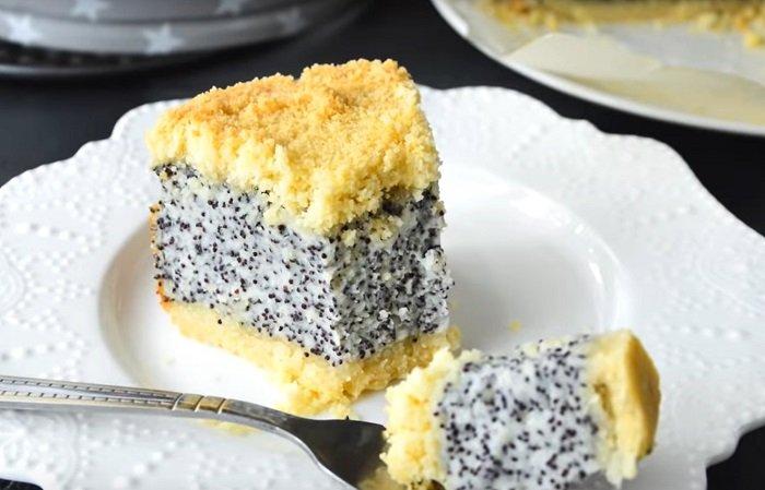 хрустящий маковый пирог