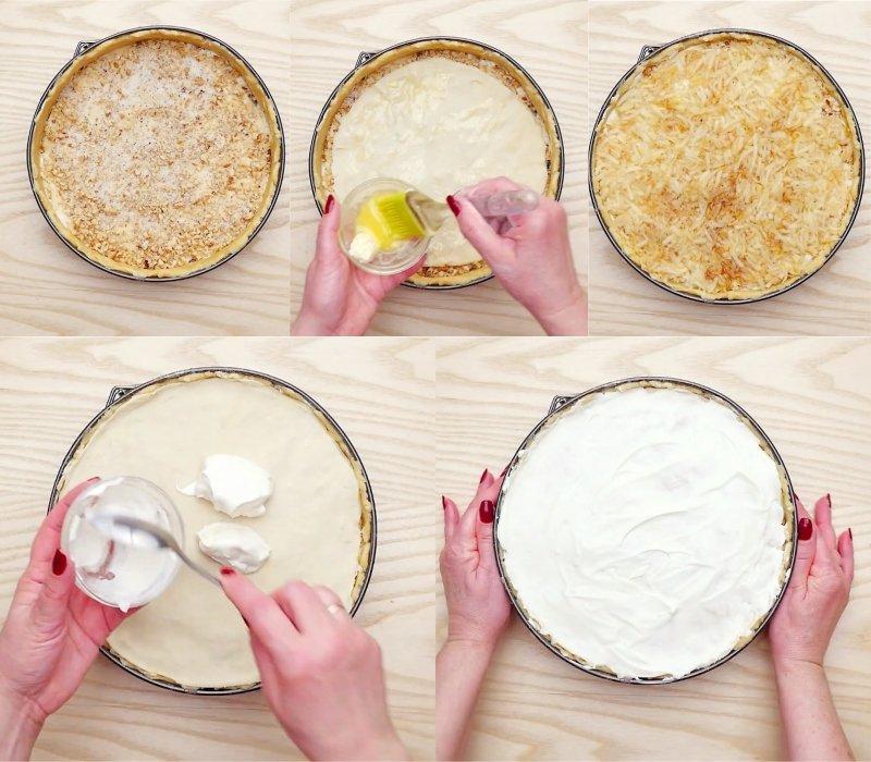 рассыпчатый пирог с творогом в духовке