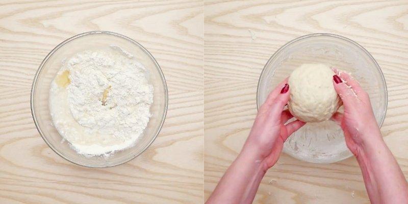 яблочный пирог с творогом в духовке
