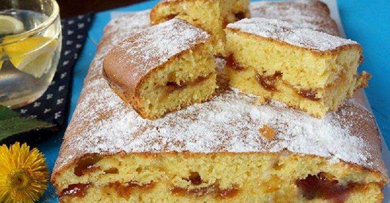 торта с конфитюр набързо