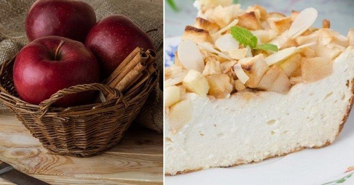 пирог с яблоками на молоке и дрожжах