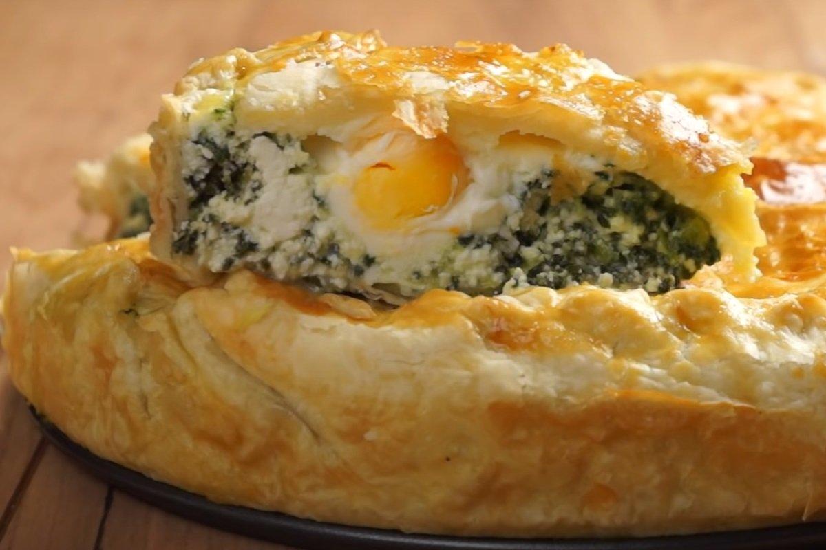 рецепт пирог с яйцами и зеленью в мультиварке
