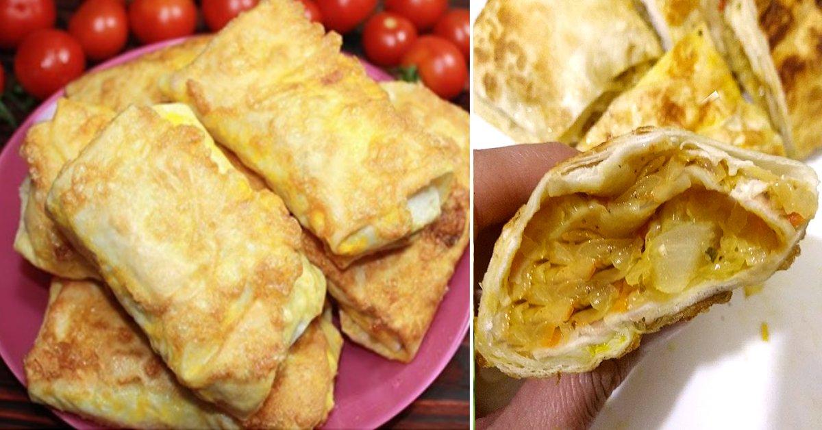 Рецепт пирожков из лаваша с капустной начинкой thumbnail