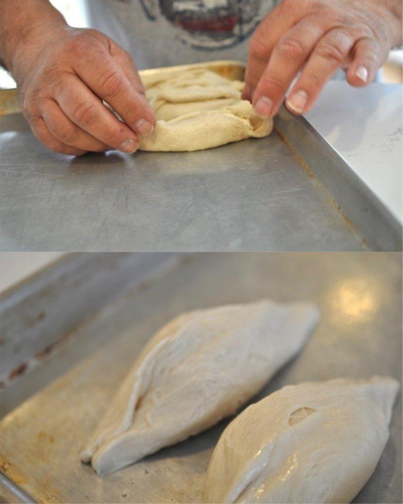 как делать слоеные пирожки с сыром