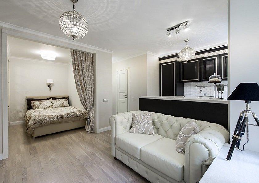 маленькая светлая квартира