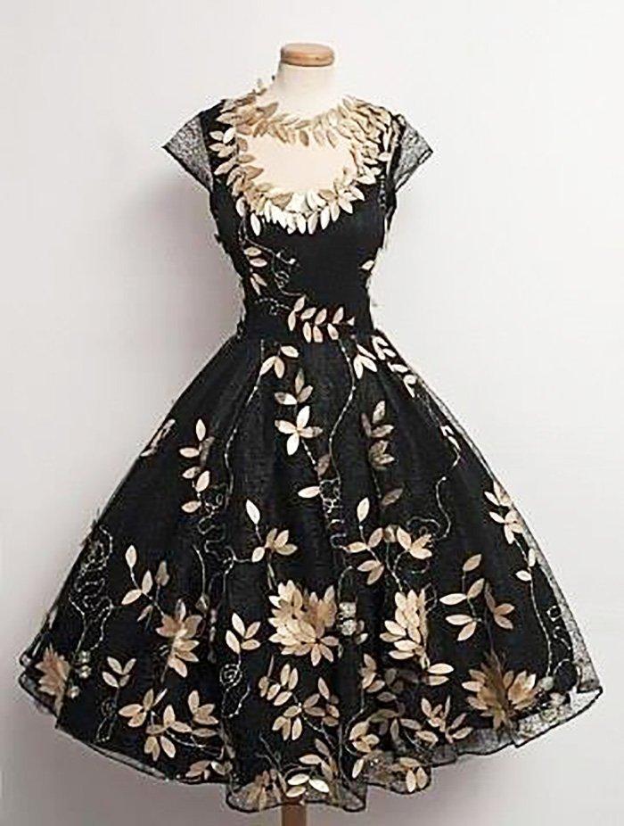 фасон платья в стиле ретро