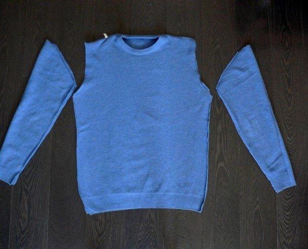 платье из свитера