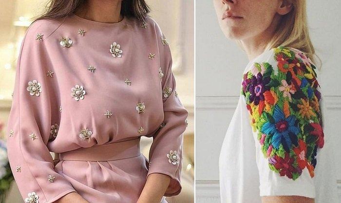 Подборка нарядных платьев с элементами вышивки