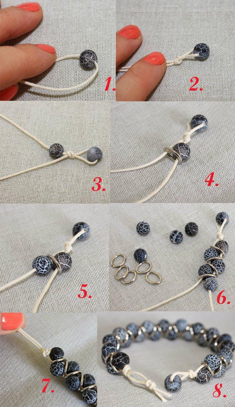 Как сделать легко красивый браслет своими руками