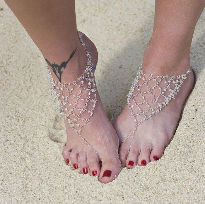 босые сандалии своими руками