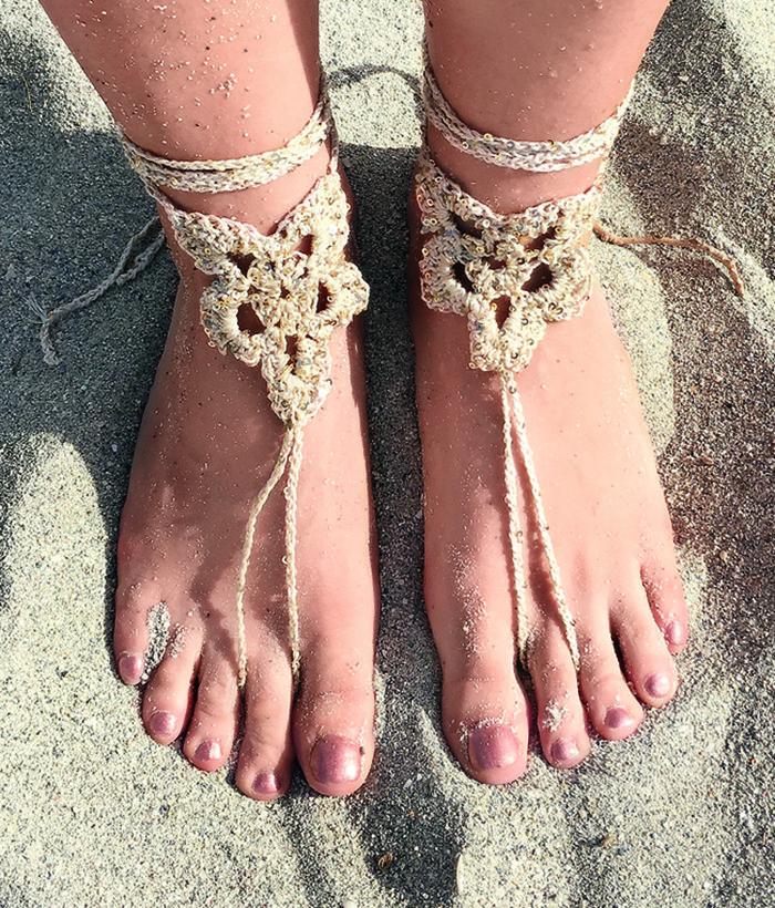 стильные босые сандалии своими руками