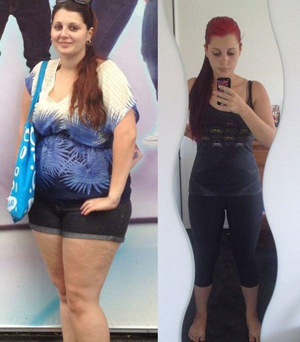 похудение: до и после