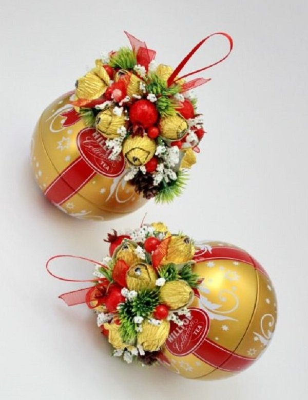 букеты и подарки из конфет