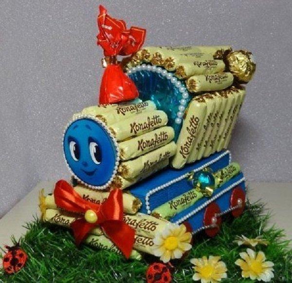 подарки из конфет на день учителя
