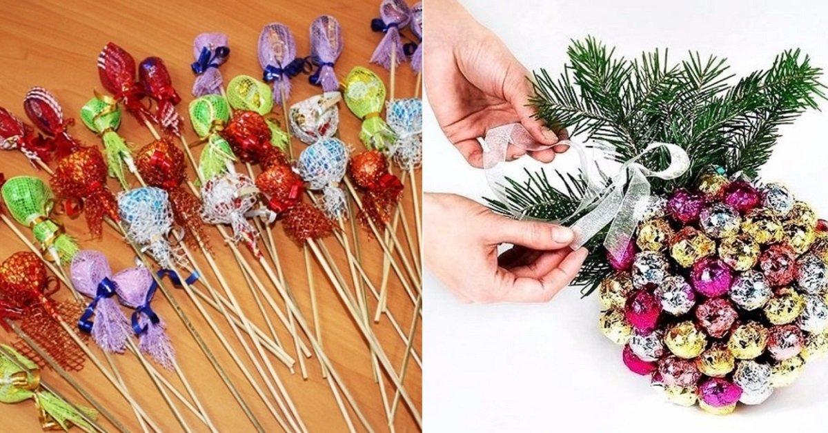 thumb Подарки из конфет к любому празднику. Идеи с подробными фото