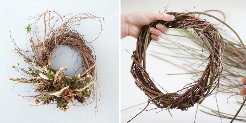 новогодний декор из прутьев