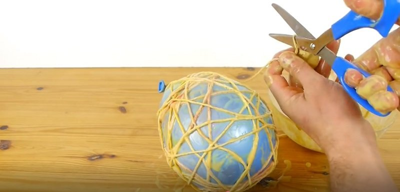 декоративное яйцо из веревки