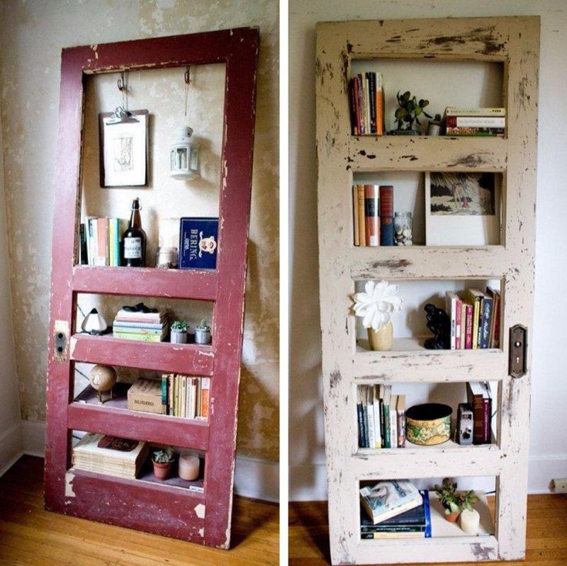 книжные полки из дверей