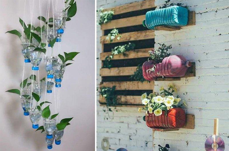 из пластиковых бутылок своими руками для сада