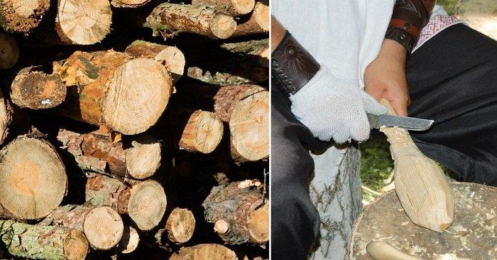 поделки из дерева под старину