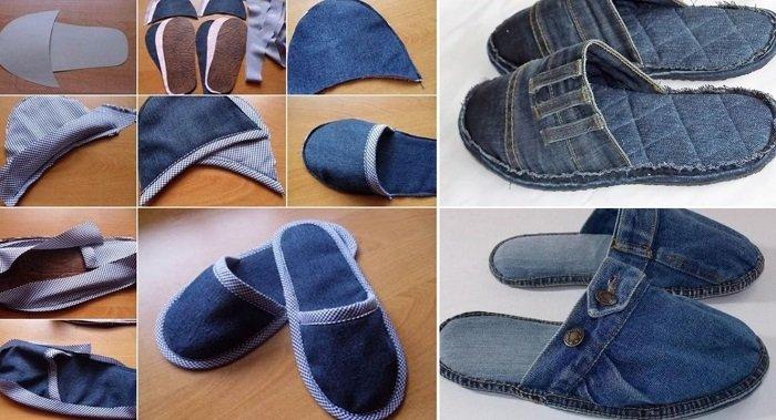 переделка джинсов в жилет