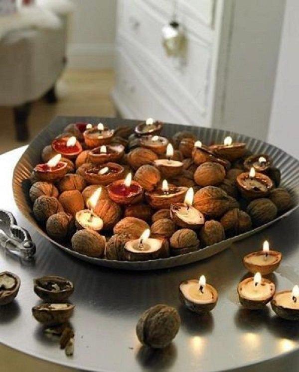 поделки из каштанов и грецких орехов