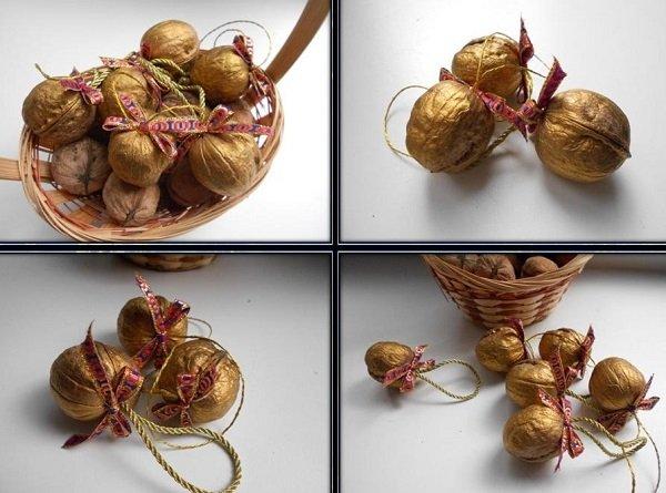 поделки из грецких орехов на тему осень