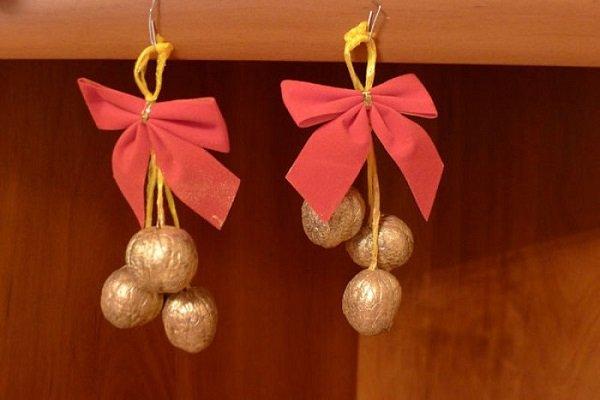 поделки из грецких орехов на новый год
