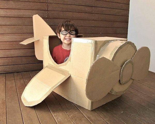 самолет из коробки