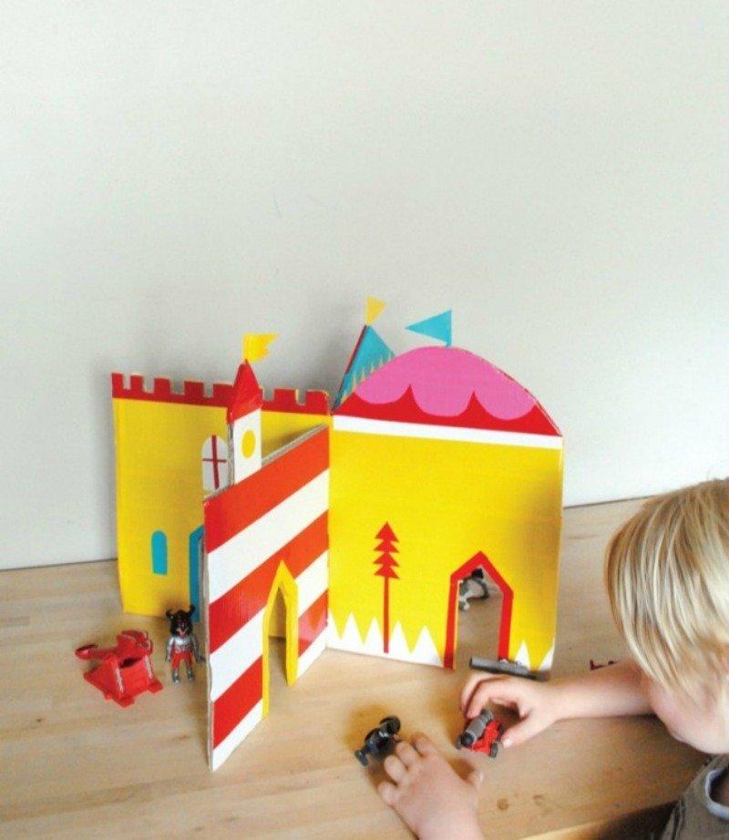 как сделать игрушки из коробок