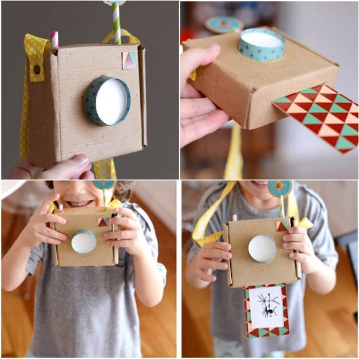 детские игрушки из коробок